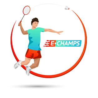 Бадминтон,  Badminton, e-Champs