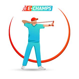 Стрельба из рогатки, e-Champs