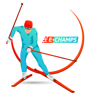 Онлайн соревнования по лыжам,  Online skiing, e-Champs